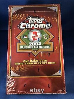 2003 Topps Chrome Series 2 03 Baseball Hobby Version Factory Sealed Wax Box