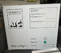 ATC SCM7 Speakers Black Ash NEW CURVED VERSION purchased new in Oct 20. Boxed