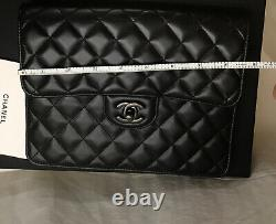 Chanel Clutch Petite Maroquinerie Black Quilted Clutch New With Box GIFT VERSION