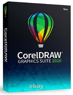 Corel Draw Graphics Suite 2020 Vollversion Mac Box + Cliparts Handbuch (PDF) NEU