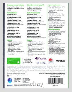 CorelDRAW Graphics Suite 2018 Full Commercial Version, New Retail Box
