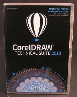 CorelDraw Technical Suite 2018 Vollversion Box DVD Handbuch PDF Schulversion NEU