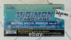 DIGIMON TCG Version V 1.5 Booster Box Special Release Dash Memorial Packs NEW