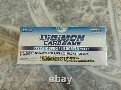 Digimon Card Game Series 01 Special Booster Box Ver Version 1.0 With 24 Packs