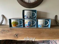 Disney Starbucks You Are Here Collection Version 1- Full Set- Boxed And New