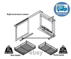 Hafele Pull & Swing Out Magic Corner Unit Soft Close for 800, 900 or 1000m Unit