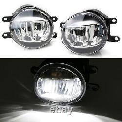 JDM-Spec LED Fog Light Kit with White/Amber LED DRL Bezels For 18-20 Camry SE XSE