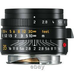 Leica 35mm Summicron-m F2 Asph Version II 11673 Black Germany M Lens New In Box