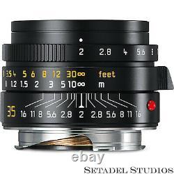 Leica Summicron-m 35mm F2 Asph Version II Germany 11673 Black M Lens New In Box