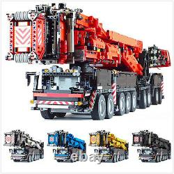 Liebherr LTM 11200 Crane with Power Functions Kits 8128 Pcs Bricks Blue Version