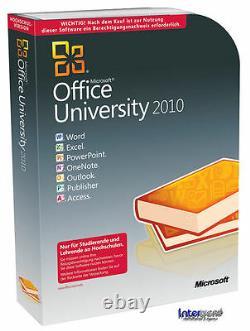 MS Office Professional University 2010 Vollversion Box f. Studenten/Lehrende NEU