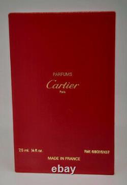 MUST Cartier, parfum, extrait, 1/4 Fl Oz. 7.5 ml, splash, in box, vintage version