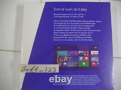 Microsoft Windows 8.1 Pro Full English Version 32 & 64 Bit DVD =NEW SEALED BOX=