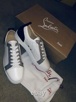 NEW Christian Louboutin Louis Junior Calf Version Snow Boxed UK 9 EU 42 Shoes