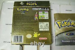 NINTENDO Pokemon Gold Version GameBoy Color Complete In Box CIB NEW BATTERY
