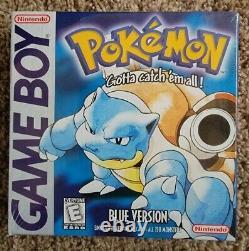 Nintendo Game Boy Pokemon Blue Version New in Box NIB Factory Sealed Early Print