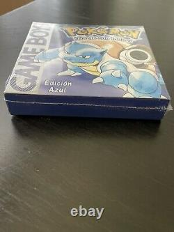 Nintendo Gameboy Pokemon Blue Spanish Version NEW Factory Sealed Box Azul