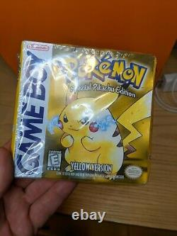 Nintendo Pokemon Game Boy Yellow Version Pikachu Special Edition Sealed Box WOW