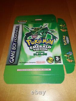 POKEMON EMERALD VERSION Display Box Nintendo GBA Brand New VERY RARE