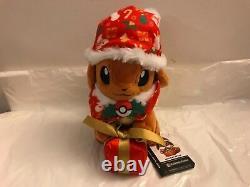 Pokemon Center Original Stuffed Eevee Christmas Gift Box Version WithOriginal Tags