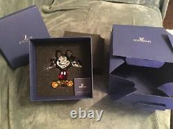 Swarovski Crystal Glass Disney Mickey Mouse Coloured Version 1118830 Boxed
