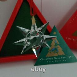Swarovski European Version Xmas Ornament 1991 SCO1991 164937 MINT IN BOX COA
