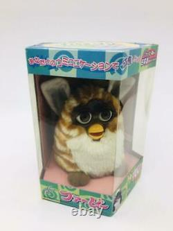 TOMY Furby Caramel & White Doll Figure Plush Toy Japanese Version with box New