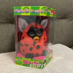 TOMY Furby Red & Black Doll Figure Plush Toy Japanese Version with box Vintage