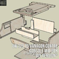 VW T25 T3 Vanagon Centre Console Mid Box DiY VERSION