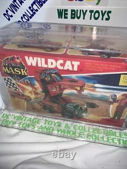 Vintage 1987 Kenner M. A. S. K. MASK WILDCAT Sealed New U. S. Box Version AFA 80