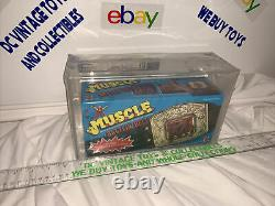 Vintage M. U. S. C. L. E. Battlin Belt Solid Box Version 1985 MIB AFA 75 Muscle