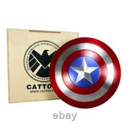 With Wooden Box CATTOYZ 11 Avengers Captain America Shield Alloy Metal Version